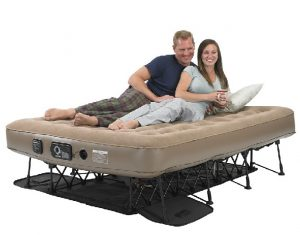 high end air bed on a frame