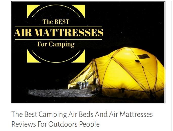 Camping air mattress buying tips