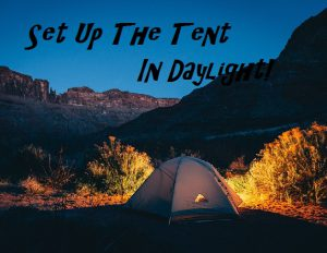 Setting up a tent tips for beginners