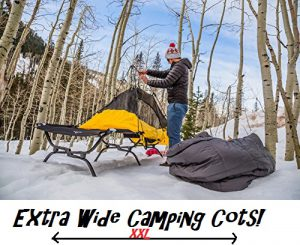 XL Extra Wide Camping Cots For Two People