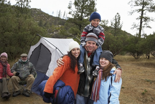 Camping With Family to save money