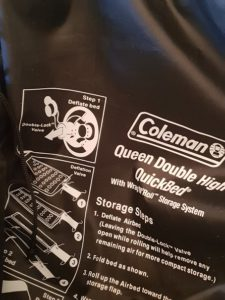 Coleman Quick Bed Carry Case Wrap N Roll