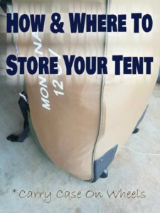 How To Store A Tent