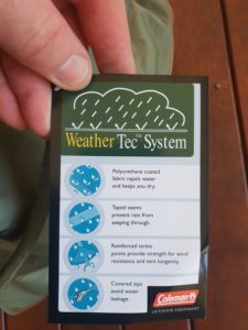 Is The Coleman 12CV Deluxe Montana Tent Waterproof
