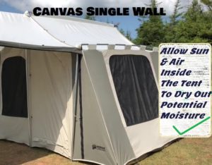 Single Or Double Wall Tent For Camping In Winter