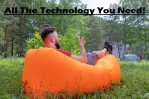 Using technology when camping