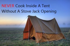 Can I cook inside a tent if its raining